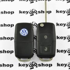 Корпус выкидного ключа для VOLKSWAGEN Golf, Polo, Transporter (Фольксваген Гольф, Поло, Транспортер) 2- кнопки