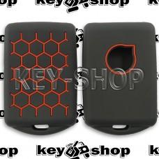 Чехол силиконовый для смарт ключа Volvo (Вольво) черный