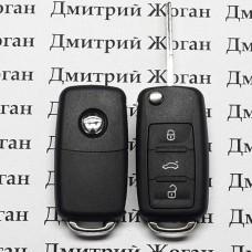 Оригинальный выкидной ключ Volkswagen (Фольксваген) - 3 кнопки, чип ID 48, 5K0837202AF, 433 MHz