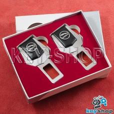 Заглушки ремней безопасности (с кожаными вставками) для Jaguar (Ягуар)