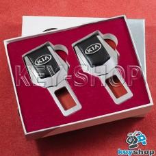 Заглушки ремней безопасности (с кожаными вставками) для KIA (КИА)