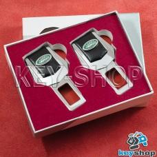 Заглушки ремней безопасности (с кожаными вставками) для Land-Rover  (Ленд Ровер)