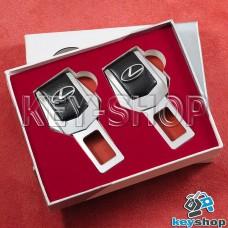 Заглушки ремней безопасности (с кожаными вставками) для Lexus (Лексус)