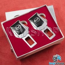 Заглушки ремней безопасности (с кожаными вставками) для Mazda (Мазда)