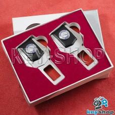 Заглушки ремней безопасности (с кожаными вставками) для Mercedes (Мерседес)