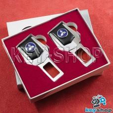 Заглушки ремней безопасности (с кожаными вставками) для Mitsubishi (Митсубиси)