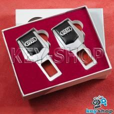 Заглушки ремней безопасности (с кожаными вставками) для Audi (Ауди)