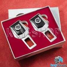 Заглушки ремней безопасности (с кожаными вставками) для Volvo (Вольво)