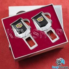 Заглушки ремней безопасности (с кожаными вставками) для Cadillac (Кадиллак)