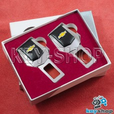 Заглушки ремней безопасности (с кожаными вставками) для Сhevrolet (Шевроле)