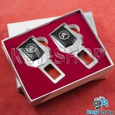 Заглушки ремней безопасности (с кожаными вставками) для Citroen (Ситроен)