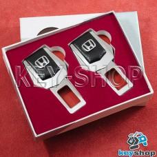 Заглушки ремней безопасности (с кожаными вставками) для Honda (Хонда)