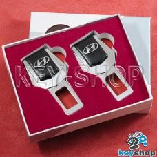 Заглушки ремней безопасности (с кожаными вставками) для Hyundai (Хюндай)