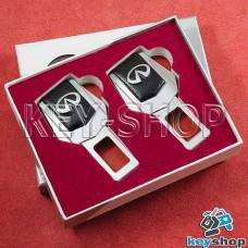 Заглушки ремней безопасности (с кожаными вставками) для Infiniti (Инфинити)
