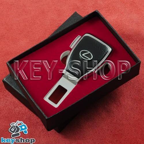Заглушка-переходник ремня безопасности (с кожаными вставками) для  Lexus (Лексус)