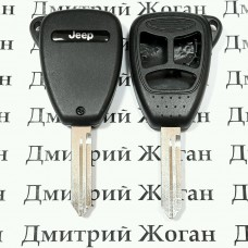 Корпус автоключа для Jeep( Джип) 3 кнопки (тип 2)