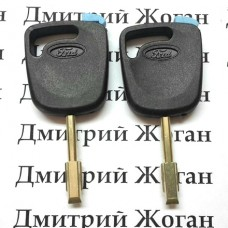 Корпус авто ключа под чип для FORD (Форд), лезвие FO21 (с синей заглушкой)