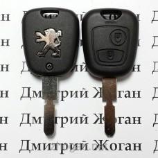 Корпус ключа для PEUGEOT (Пежо) 406, 2 - кнопки, лезвие NE78