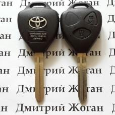 Корпус автоключа Toyota (Тойота) 2 кнопки под переделку лезвие TOY 43