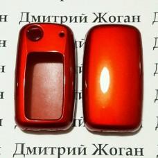 Чехол (красный, пластиковый) для выкидного ключа Skoda (Шкода)