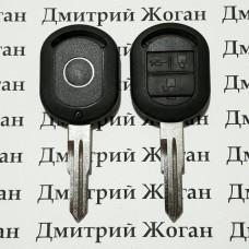 Корпус авто ключа для Chevrolet Lacetti (Шевролет лачети) 3-кнопки (вариант №3)
