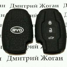 Чехол (черный, силиконовый) для смарт ключа BYD (Бид)  3 кнопки