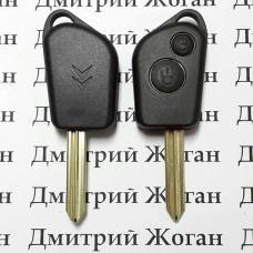 Корпус авто ключа для Citroen Xsara, Picasso, Saxo, Berlingo (Ситроен Ксара, Пикассо, Саксо) 2 кнопки, лезвие SX9