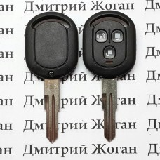 Корпус авто ключа для Chevrolet Lacetti (Шевролет лачети) 3-кнопки (вариант №1)