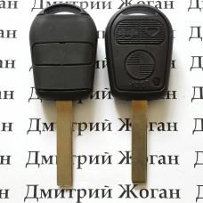 Корпус ключа для BMW E46 (БМВ) 3 кнопки, лезвие HU 92