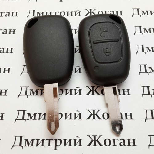 Корпус ключа для RENAULT Master, Traffic (рено мастер, трафик) 2 кнопки, лезвие NE 73