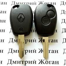 Корпус авто ключа для Renault Logan,Sandero,Lodgy,Duster  (Рено Логан,Сандеро,Лоджи,Дастер) 2 кнопки, лезвие VAC102