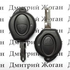 Корпус ключа для PEUGEOT (Пежо) 206, 1- кнопка, лезвие NE73