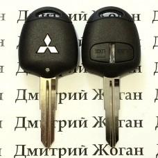 Корпус авто ключа для MITSUBISHI L200, Pajero, Grandis(Митсубиси, Паджеро, Грандис) 2 - кнопки, лезвие MIT8