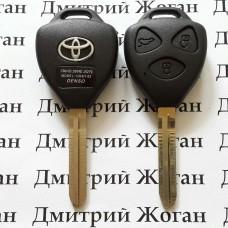 Корпус автоключа Toyota (Тойота) 3 кнопки под переделку лезвие TOY 43