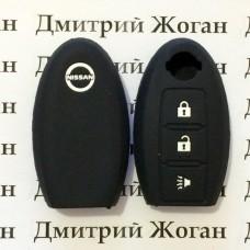Чехол (силиконовый) для авто ключа Nissan (Ниссан) 3 кнопки