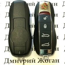 Корпус смарт ключа для Porsche Panamera (Порше Панамера) 4 кнопкu