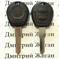 Корпус авто ключа Volkswagen (Фольксваген) 2 кнопки , лезвие HU49