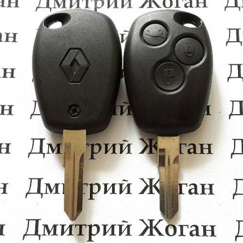 Корпус автоключа для RENAULT (рено) 3 кнопки, лезвие VAC102