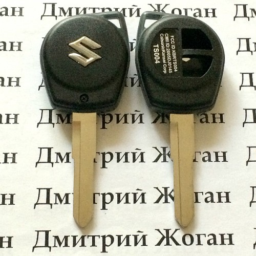 Корпус автоключа Suzuki Grand Vitara, Swift, SX4 (Сузуки Гранд Витара, Свифт, SX4) лезвие HU133 - 2 кнопки