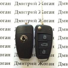 Выкидной ключ для Ssang-Yong Rexton, Actyon (Санг Йонг) 3 кнопки, ID48/433Mhz