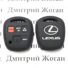 Чехол (силиконовый) для авто ключа LEXUS (Лексус) 3 кнопки