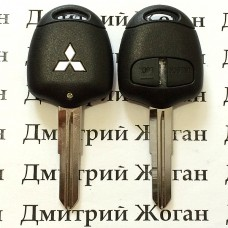 Корпус ключа MITSUBISHI Lancer, ASX, Outlander XL (Митсубиси Ланцер, Аутлендер) 2 - кнопки, лезвие MIT11R