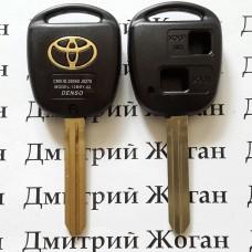 Корпус для ключа TOYOTA Prado, Corolla, Rav 4 (Тойота Прадо, Корола, Рав 4) 2 - кнопки, лезвие TOY43
