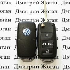 Корпус выкидного ключа для VOLKSWAGEN Multivan (Фольксваген Мультиван) 4  кнопки