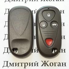 Корпус пульта Acura (Акура) - 3 кнопки + 1 кнопка