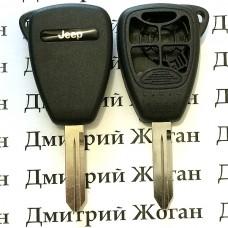 Корпус для автоключа Jeep (Джип) 4 кнопки + 1 (panic)