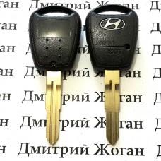 Корпус ключа Hyundai (Хундай) - 1 кнопка (плоское лезвие)