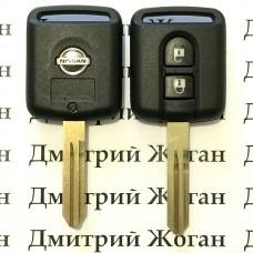 Корпус ключа для Nissan (Ниссан)  Кашкай, Микра, Ноут, Мурано, Патфайндер, Навара 2 - кнопки, лезвие NSN14