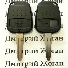 Корпус автоключа для Nissan (Ниссан) 1 - кнопка, лезвие DAT17