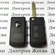 Корпус выкидного ключа для Subaru (Субару) 2 кнопки, лезвие DAT17